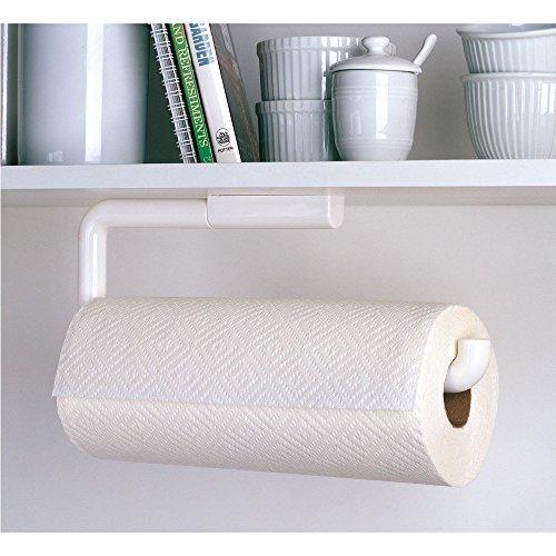 InterDesign Paper Towel Holder Kitchen - Wall Mount/Under Cabinet, White (Towel Interdesign Holder Paper)