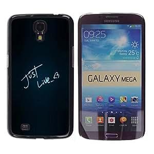 Paccase / SLIM PC / Aliminium Casa Carcasa Funda Case Cover - Funny Just Like Love - Samsung Galaxy Mega 6.3 I9200 SGH-i527