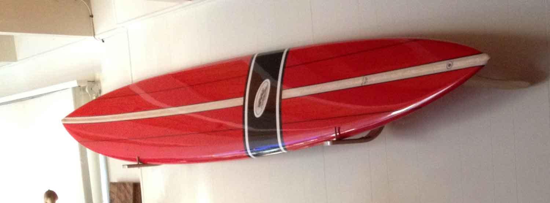 Hawaiian Gun Rack surfboard wall rack for Vintage Surfboards by Hawaiian Gun Rack