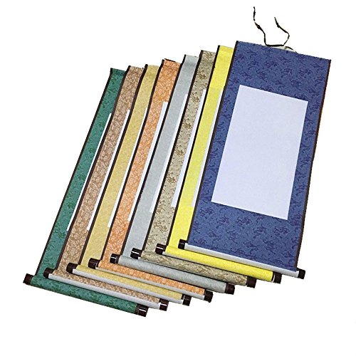 Chinese Xuan Paper Art Wall Scrolls for Sumie and Calligraphy - 1 Pcs Blue