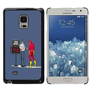 A-type Arte & diseño plástico duro Fundas Cover Cubre Hard Case Cover para Samsung Galaxy Mega 5.8 (Divertido - Flash Superhero y Cop)