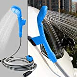 Wilove Portable Outdoor Shower - Universal Portable 12V Auto Car Outdoor Camper Caravan Camping Clean Shower Kit