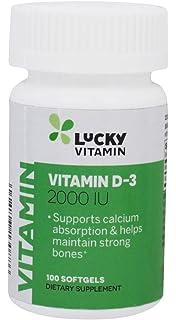 LuckyVitamin - Vitamina D3 2000 IU - 100Cápsulas blandas