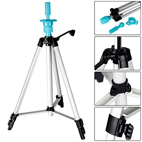 Manikin Carry Bag - Mannequin Head Holder Tripod Stand, Beauty Star Adjustable Hairdressing Practice Training Cosmetology Mannequin Wig Head Stand Tripod Holder for Beauty Hair Salon with Carry Bag