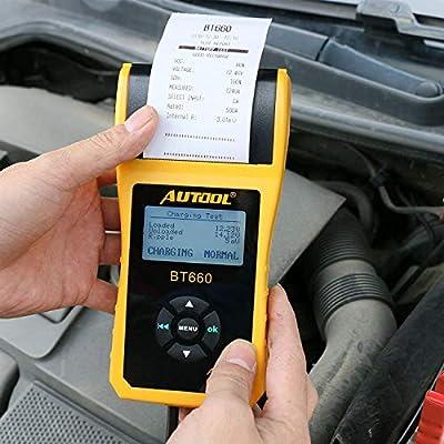 AUTOOL Analizador del probador de la batería del coche 12V / 24V ...