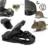 1X Mouse Rat Mice Traps Reusable Effective Bait Snap Rodent Lethal Quick Killer Catcher (Black, 984545 mm)