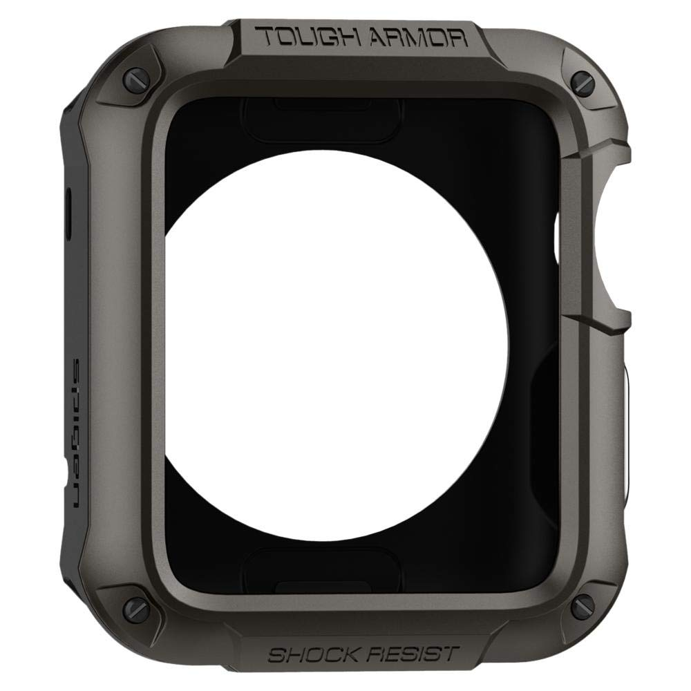 Spigen Tough Armor Designed for Apple Watch Case for 42mm Series 3 / Series 2 / Series 1 and Built in Screen Protector - Gunmetal by Spigen