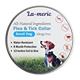 Flea and Tick Prevention for Dogs, Flea Collars for Small Dogs for 8 Month,Waterproof Flea Treatment, All Natural and Anti-Allergy Flea Collar,13 inches