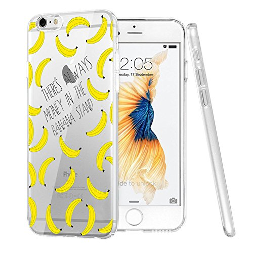 iPhone 7 Case, Eouine Many Bananas Printed Flexible Soft Silicone TPU Case for iPhone 7, Scratch-Resistant Protective Case