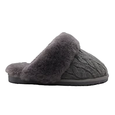 official photos bbbec 2268e BamboBär Woll-/Lammfell Hausschuhe Damen Slipper ...