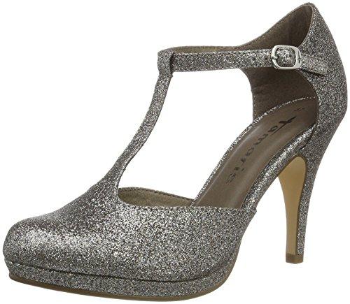 Tamaris 24428, Zapatos de Tacón para Mujer Plateado (PLATINUM GLAM 970)
