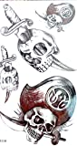 tattoos removable pirates - pirate skull temporary tattoo sticker for guys girls Halloween party