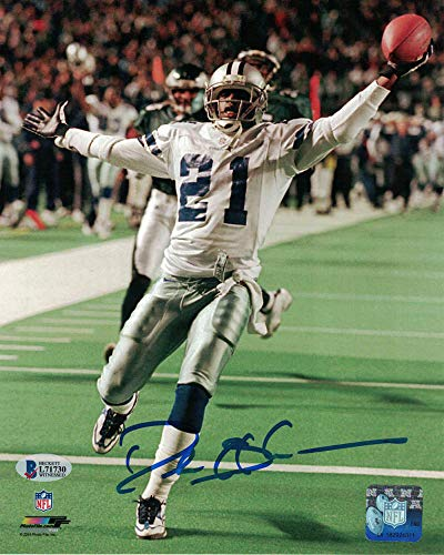 Deion Sanders Autographed/Signed Dallas Cowboys 8x10 Photo JSA