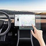Tesla Model 3 Screen Protector, KIMILAR Matte Anti-Glare 15'' Center Control Touchscreen Car Navigation Touch Tempered Glass Screen Protector for Model 3 P50 P65 P80 P80D, 9H Hardness and Anti-Scratch