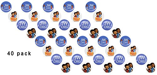 JW.ORG Buttons Jehovah's Witnesses Button Perfect Present For Jw.org (Kids-40 Pack) (Witness Pins)
