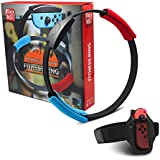 NS-Switch Game Fitness Ring Adventure ,NS Ring Fit Somatosensory Sports Game Yoga Fitness Ring + Leg Straps, Suitable for Great Adventure Sports Somatosensory Games (Excluding Games)