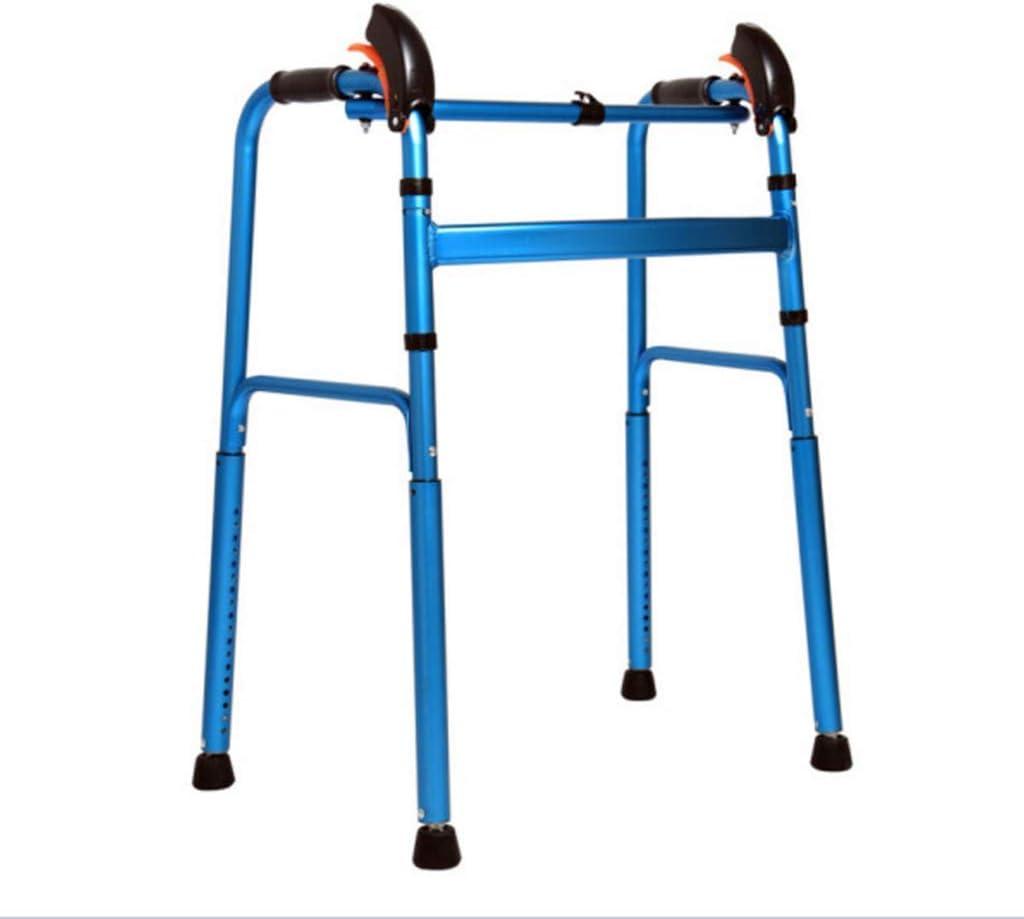 TWL LTD Marco para Caminar Manual Retráctil con Almohadilla para el Pie Giratoria Walker para Subir Las Escaleras para Personas Mayores con Movilidad Limitada