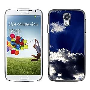 TopCaseStore / la caja del caucho duro de la cubierta de protección de la piel - Sun Clouds God Inspiring Sky Summer - Samsung Galaxy S4 I9500
