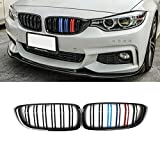 F32 Grille, ABS Front Replacement Kidney Grillfor 4 Series F32 F33 F36 F80 F82 Gloss M Color