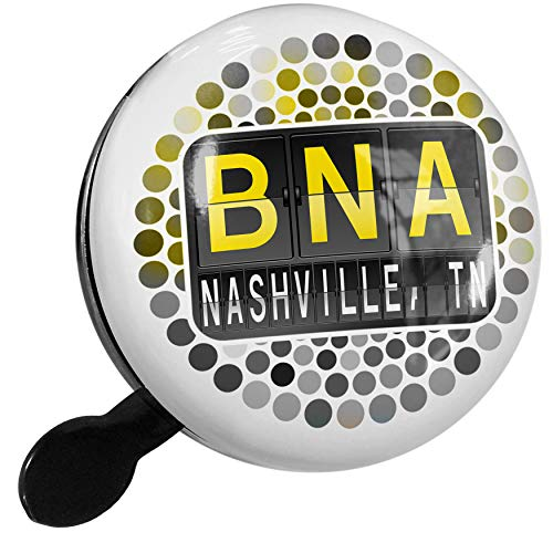 NEONBLOND Bike Bell BNA Airport Code for Nashville, TN Scooter or Bicycle Horn