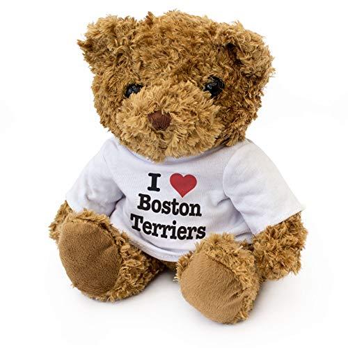 I Love Boston Terriers - Teddy Bear - Cute Soft Cuddly - Dog Gift Present ()