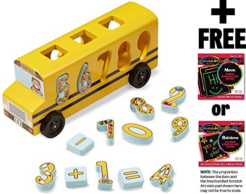 Number Game Math Bus + FREE Melissa & Doug Scratch Art Mini-Pad Bundle [93989]