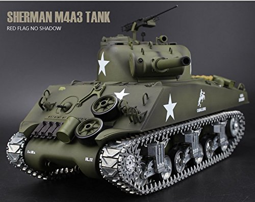 KNL HOBBY Henglong 1/16 scale 2.4GHz RC tank Sherman M4A3 battle Tank U.S.Army Ultimate metal version with 2.4G RC Smoke Sound Metal Gear and Tracks