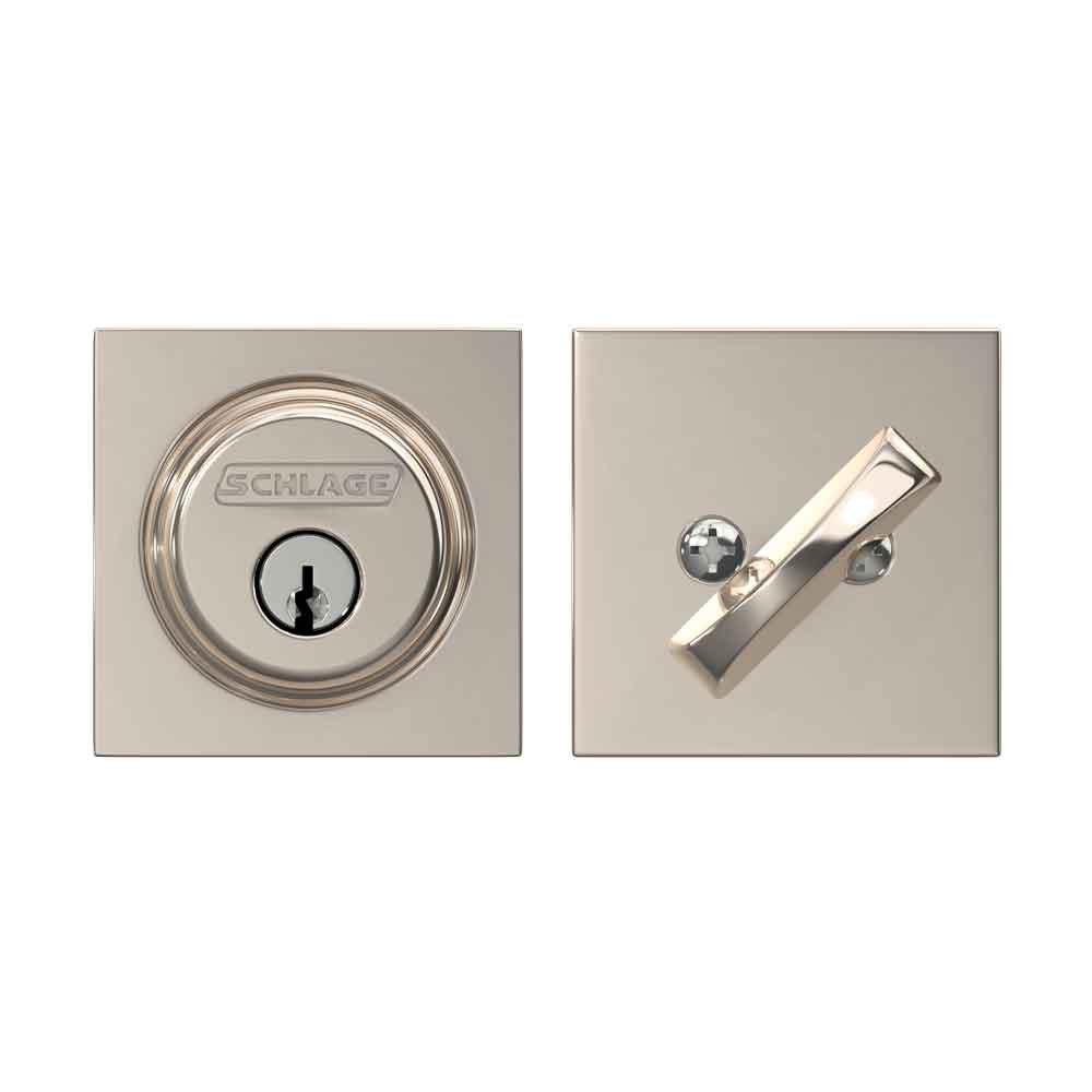 Schlage Lock Company Single Cylinder Deadbolt with Collins Trim Matte Black , B60 622 COL