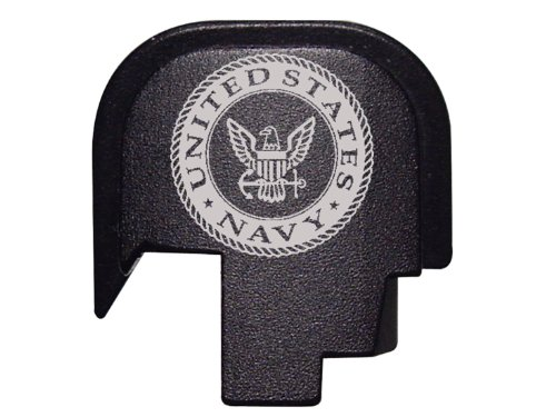 for Smith & Wesson Shield 9MM Rear Slide Cover Plate Black NDZ United States Navy Seal Round - United States Navy Seal Seals