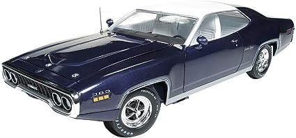 "AUTOWORLD AMM1146 1:18 1971 PLYMOUTH SATELLITE SEBRING PLUS /""MCACN/"" PURPLE"
