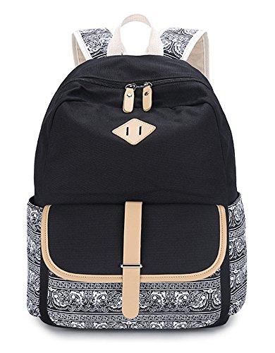 Teenagers girls school backpacks children backpacks Black - 3