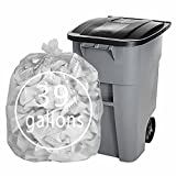 Pekky 39 Gallon Clear Large Trash Bags (Lawn and Leaf), 65 Counts