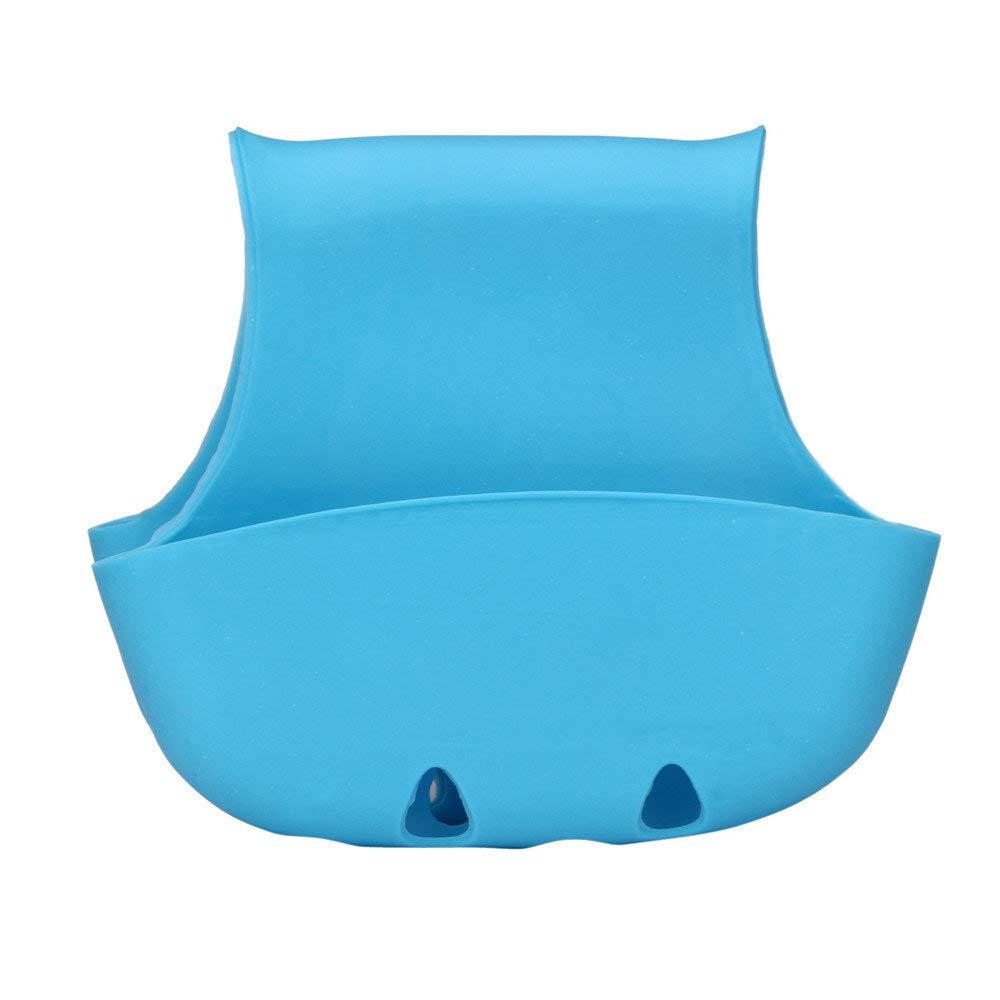Dressin Storage Tools,Double Sink Caddy Saddle Style Kitchen Organizer Storage Sponge Holder Rack Tool Blue