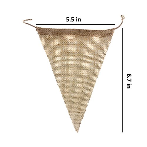 Etmact 48 PC 삼 베 배너, 31 피트 DIY 삼각형 플래그, 결혼식, ..