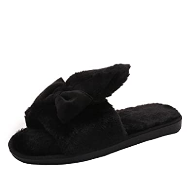 74ad88515 Ourhomer 💕 Clearance Sale Womens Lovely Winter Indoor Home Shoes Faux Fur  Warm Slippers Ladies