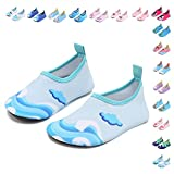 CIOR Fantiny Baby Boys Grils Water Shoes Unisex Infant Barefoot Skin Aqua Socks for Beach Swim Pool,Wave,120cmA
