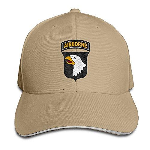 ETACAP Army 101st Airborne Division Embroidered Baseball Hat Dad Cap Adjustable Sandwich Cap Visor Cap