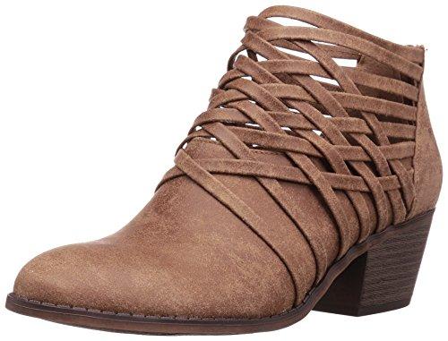 Fergalicious Womens Bandana Ankle Bootie Saddle I2zvgOMXgw