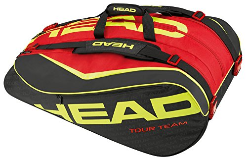 Head 2015 Extreme 12R Monstercombi Tennis Bag (Black/Red/Yellow) by HEAD
