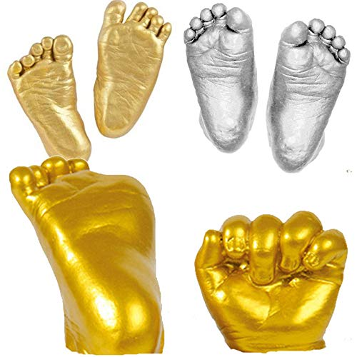 (Hand 3d - 1 Set 3d Plaster Handprints Footprints Baby Hand Foot Casting Mini Kit Gifts Gold 7h0003 - Model Printer Scanner Hand Anatomy Muscle Craft Supplies Capsicum Baby Hand)