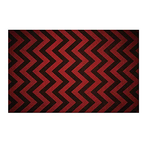 Civic Vertical Doors - YOLIYANA Maroon Durable Door Mat,Vertical Chevron Zigzag Stripes Vintage Grunge Old Abstract Classical Dramatic Decorative for Home Office,15.7