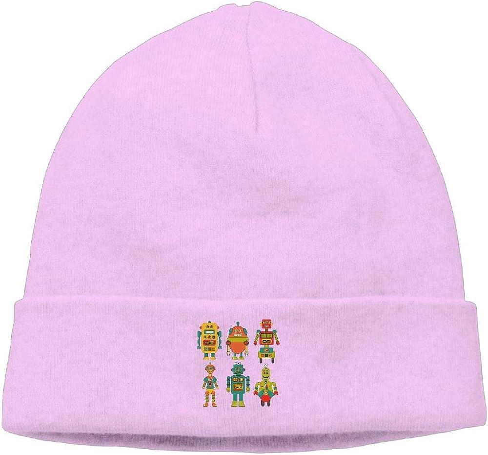 nordic runes Robot Beanie Hat Winter Warm Knit Skull Cap for Mens//Womens