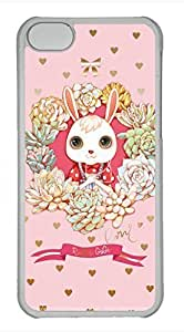 iPhone 5c case, Cute Cute Little Rabbit iPhone 5c Cover, iPhone 5c Cases, Hard Clear iPhone 5c Covers