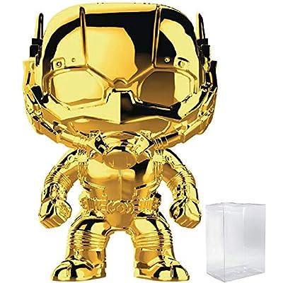 Marvel Studios 10th Anniversary - Ant-Man (Gold Chrome) Funko Pop! Vinyl Figure (Includes Compatible Pop Box Protector Case): Toys & Games