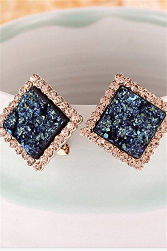 Unique Creative Fashion Luxury Blue Diamond Earrings earings Dangler Eardrop Jewelry Box Earring Women Girls Hypoallergenic Trend