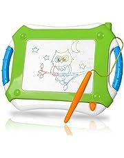 TTMOW Verdicktes Zaubertafel Kinder Maltafel für Kinder ab 2 ab 3, Lerntafel Reißbrett Kindergeschenk, Hinzugefügter Bereich für Malerei (Blau)