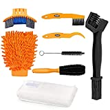 Motorcycle Bike Chain Clean Brush Kit, Oumers Bicycle Gears Maintenance Cleaner Tools/Bike Cleaner Scrubber Set Bike Care Stable &Durable