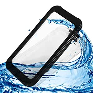 Waterproof Shockproof Dirt Proof Sand Proof Silicon Touch Screen Case for iPhone 5C (Black)