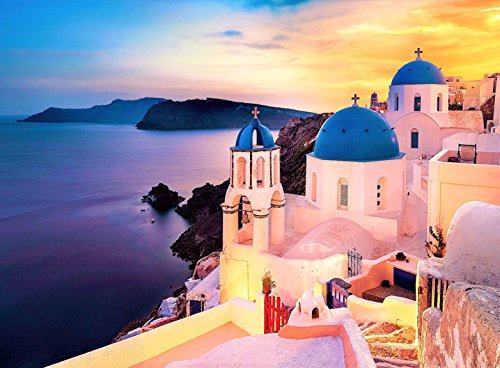 - FKG Adult Jigsaw Puzzle Beautiful Panoramic View Santorini Island 500-Pieces