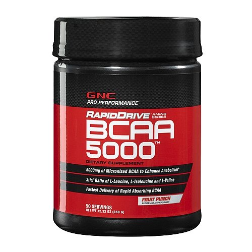 GNC Rapiddrive BCAA 5000 Supplement, 350 g, 12.32 Ounce